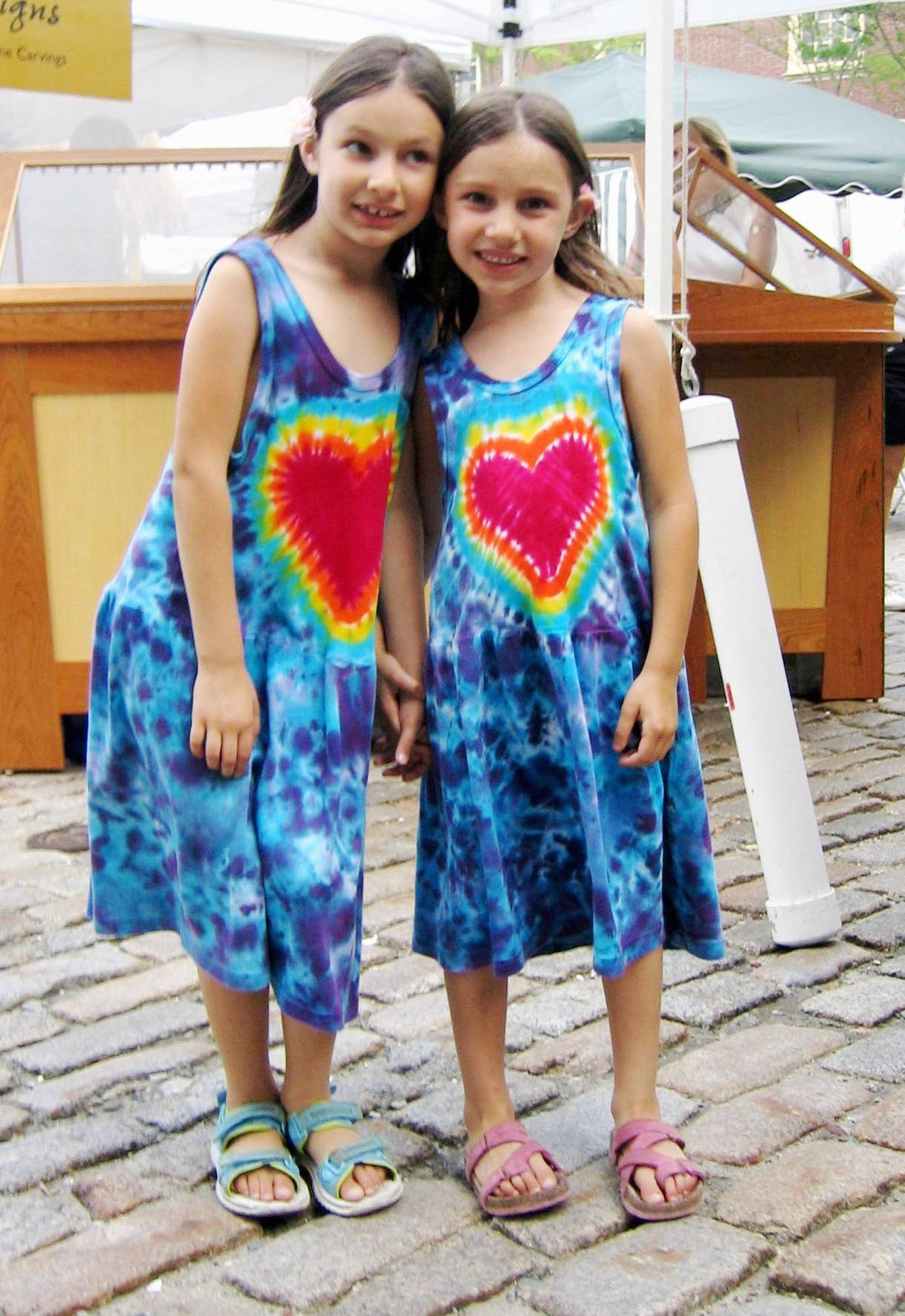 Kelsey and Michaela at New Bedford Summerfest 2006