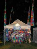 Our Booth at Old Songs Festival In the Rain 2004