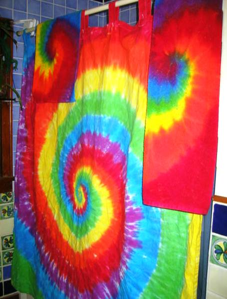 Psychedelic Bathroom!  Shower Curtain & Towel Set