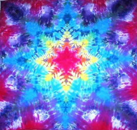 Tie Dyed Mandala Tapestry 1