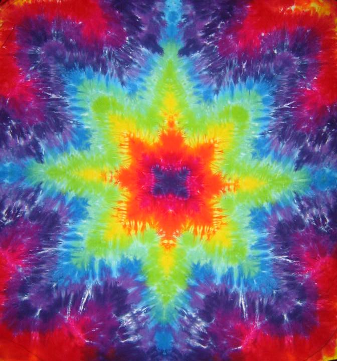 Tie Dyed Mandala Tapestry 12
