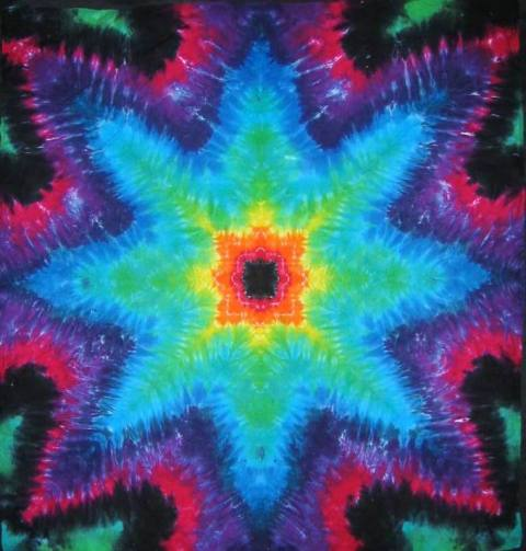 Tie Dyed Mandala Tapestry 16