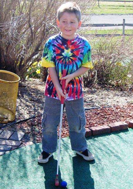 Andrew in an unconventional golf shirt 2006